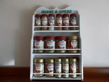 spice rack /HERB & Spice / new design will hold 14 to 28 jars /Made in OZ