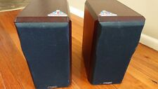 Pair Mission 751 Hi-Fi 2-Way 75W Stereo Bookshelf Speakers w/ Wood Trim
