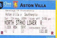 Ticket - Aston Villa v Southampton 14.08.04