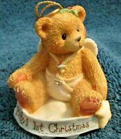 Enesco Cherished Teddies Baby's 1st Christmas Ornament VGC Free Shipping