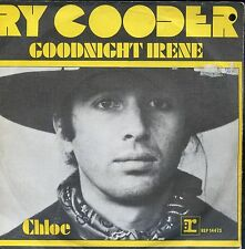 7inch RY COODER goodnight irene HOLLAND EX +ps HOLE IN COVER