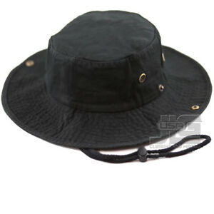 Boonie Bucket Hat Cap Cotton Fishing Military Hunting Safari Summer Men 1510