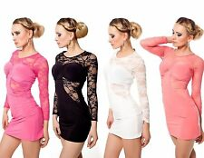 Damenkleider mit Rundhals-Ausschnitt aus Spitze für die Freizeit
