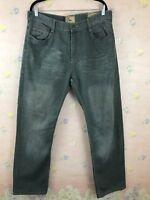 GS115 Men's Jeans Straight Leg Gray Size 40x33