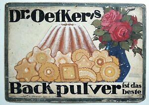 Oetker - Werbung Mecklenburger Maler R. Zscheked , Schwerin 1885 - 1954