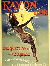ADVERTISING GAS LIGHT FIXTURE RAYON D'OR FRANCE FAIRY ART POSTER PRINT LV902