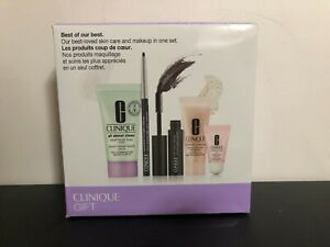 Clinique Skincare Makeup 5 Pcs Deluxe Samples Travel Size Gift Set Box Sealed