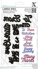 Xcut sentiments die set best wishes happy birthday with love many thanks to from