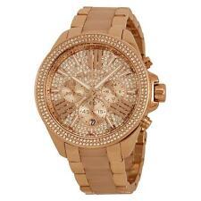 Brand New Michael Kors Wren Crystal Pave Dial Chronograph Ladies Watch MK6096