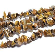 Tiger Eye Drilled Smooth Chips String Approx 35 inches long (5-8mm) UK EBAYER