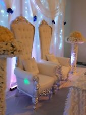 Wedding Throne Chairs/Love Lounge/Chair Covers/CentrePieces FOR EVENT DECOR HIRE