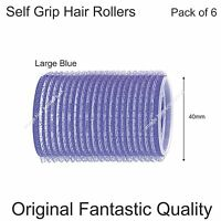 Hair Curling Rollers Self Grip Stay Cling Set PACK OF 6 LARGE All Sizes Stocked