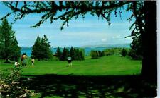 FLATHEAD LAKE, Montana  MT    POLSON GOLF COURSE  1965  Postcard