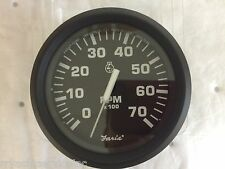 """TACHOMETER GAS 7000RPM OUTBOARDS 678-32805 4"""" FARIA GAUGE BOAT UNIVERSAL ALL"""