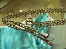 Neat-Oo Vintage 1960's Silver Tone Link Chain Modernist Art Deco Watch Fob 484F8