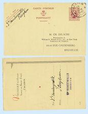 Belgium 1931 Change of Address Postal Stationery Card H&G #126 Iseghem  Brussels