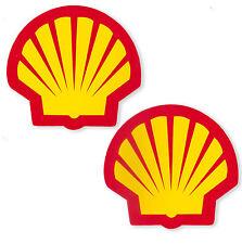"4.3/8""X2P. SHELL EMBLEM RACING OIL AUTO LUBE F1 VINYL DECAL STICKER FULL DIE-CUT"