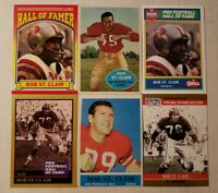Bob St. Clair HOF - NICE 6 CARD LOT w 1960 & 1964 San Francisco 49ers / USF Dons