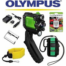 Olympus Stylus Tough TG-Tracker Wifi Action Camera (Green) PACKAGE II