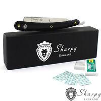 NEW SHARPY BARBER SALON STRAIGHT CUT THROAT WET SHAVING RAZOR & 10 Free blades: