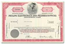Philips Electronics and Pharmaceutical Industries Corp. Stock Certificate