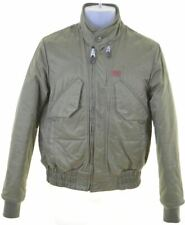 G-STAR Mens Bomber Jacket Size 36 Small Green Polyamide  FU11