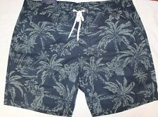 b13f35d5a6 Polo Ralph Lauren Big and Tall Mens Blue Tropical Beach Shorts Size 4xb