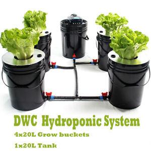 5 Gallon Round Bucket Deep Water Culture(DWC)Hydroponic Grow System Grow Kit