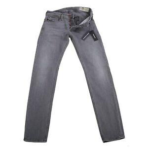 DIESEL Herren Stretch Denim Jeans Hose SLEENKER-X Grau 0095E 2. Wahl Größe 30/30
