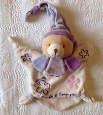 DOUDOU marionnette DOUDOU ET COMPAGNIE maman mauve rose violet Excellent état