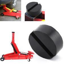 1x Black DIY Car SUV Slotted Frame Rail Hydraulic Floor Jack Disk Rubber Pad TF