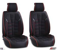 Deluxe Negro PU Cuero & Tela Fundas de los asientos delanteros HONDA Civic Accord CR-V HR-V