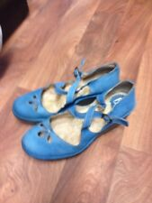 Fly London Ladies Shoes Size 6 Leather Wedge Heel