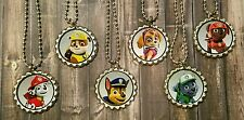 12 Paw Patrol inspired Bottle Cap Necklaces Party Favors Gifts