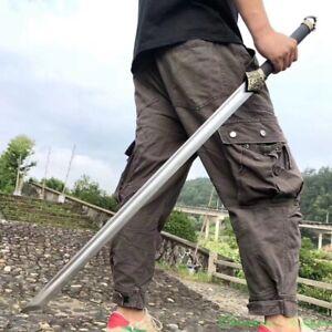 Sharp Exorcist Fire cloud evil god Battle Sword High Manganese Steel Blade #5479