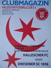 Programm 1997/98 HFC Hallescher FC - Dresdner SC