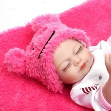 "10"" Reborn Sleeping Baby GIRL DOLL soft silicone vinyl Newborn Toy Xmas Gift it"