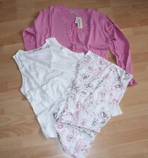 Damen 3 tlg.  Pyjama Schlafanzug Schlafzeug Gr. L  Shirt Hose NEU Baumwolle
