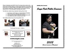 Sayoc Kali 2002 Seminar Knife Fighting Silat Arnis Jkd Jeet Kune Do