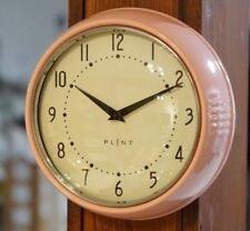 Wanduhr Küchenuhr Retro Design Vintage Metall Küche Quarzuhr Uhr rosa