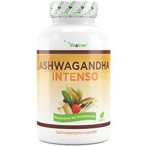 ASHWAGANDHA - 180 Kapseln (vegan) á 750 mg - 10% Withanoliden - Schlafbeere
