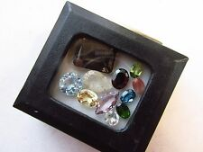 Natural Loose Mixed Faceted Gemstone Parcel Lot Rutilated Quartz Andesine Chrome