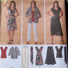 summer wardrobe PATTERN  misses 10-18 v-neck top dress pants skirt jacket tunic