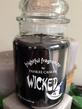 YANKEE CANDLE WICKED BLACK LICORICE HAPPY HALLOWEEN 22 OZ LARGE JAR CANDLE RARE