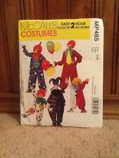 McCalls MP465 Clown Jumpsuit Jester Hat Costumes boys girls 5/6 pattern