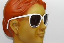 New Vintage Style White Star Unisex Cool Sunglasses With Hand Polished Frame