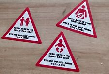 Car Window Stickers 3 pack for Baby Child Pregnancy Baby Shower Gift 15cm x15cm