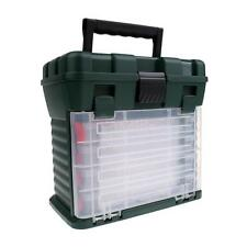Tackle Seat Box Case- 4 Removable Tackle Trays System with Top Bulk Storage