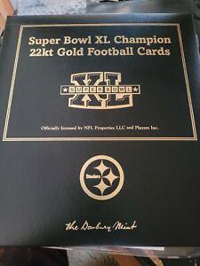 Danbury Mint Pittsburgh Steelers NFL Super Bowl XL 2004 22kt Gold Cards set