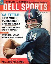 1964 (Sep.) Dell Sports magazine, Football, Y. A. Tittle, New York Giants ~ Fair